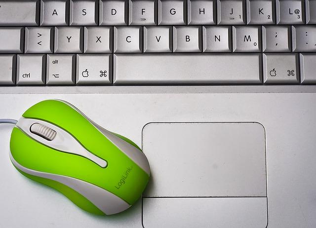 zelená myš