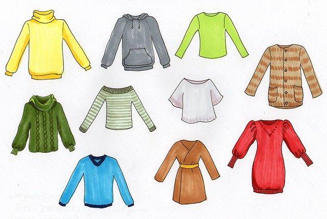 kousky barevného oblečení